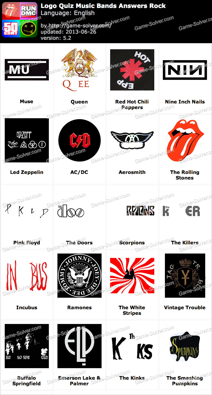 Logo Quiz Music Bands Answers Rock