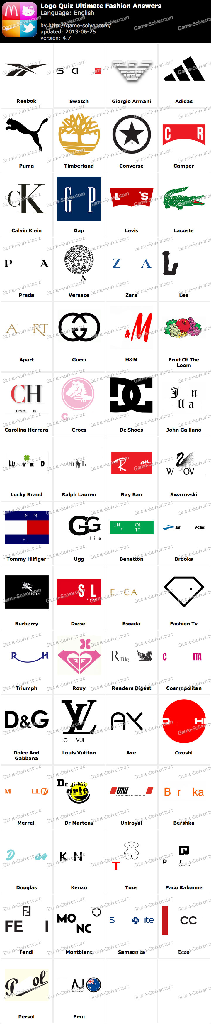 Italian Clothes Producer Logos