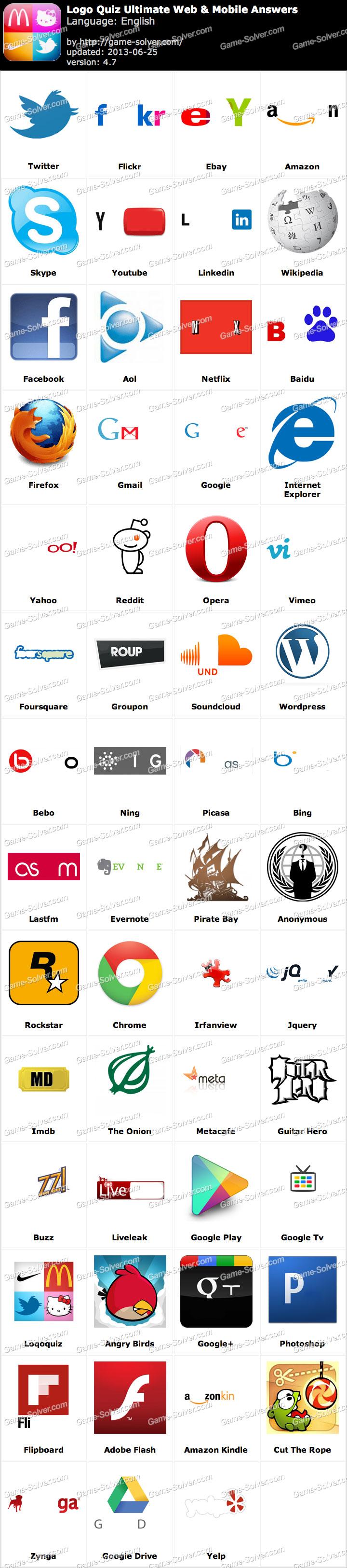 Logo Quiz Ultimate Web Answers
