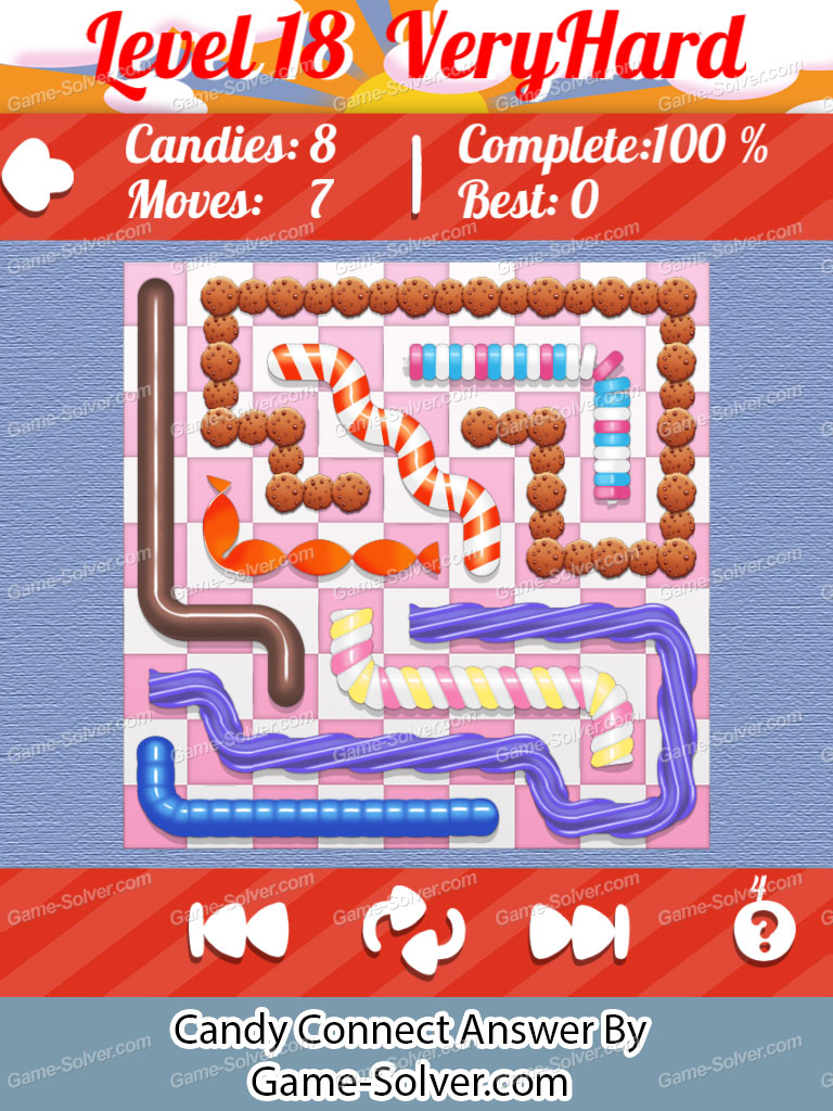 Candy Connect 9x9 Very Hard Level 18