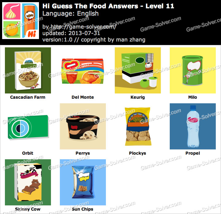 Hi Guess the Food Level 11