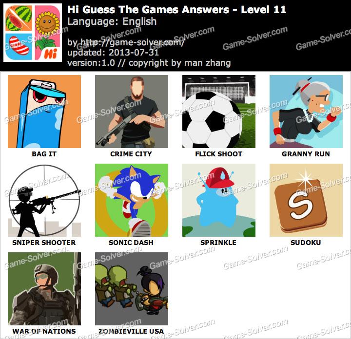 Hi Guess the Games Level 11