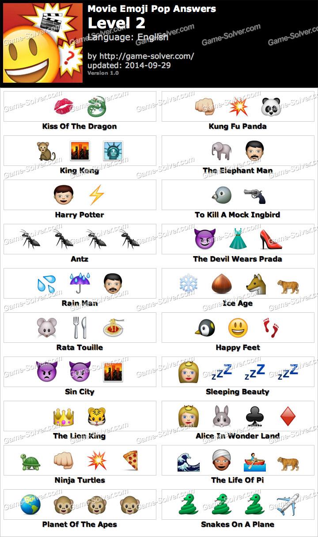 Movie Emoji Pop Level 2