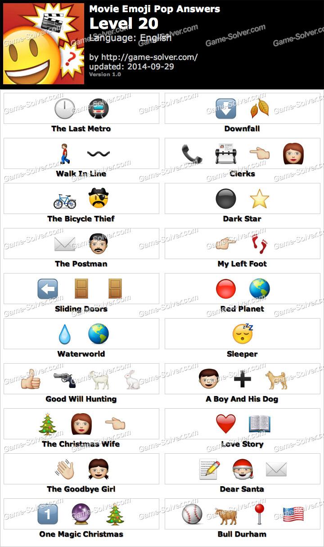 Movie Emoji Pop Level 20