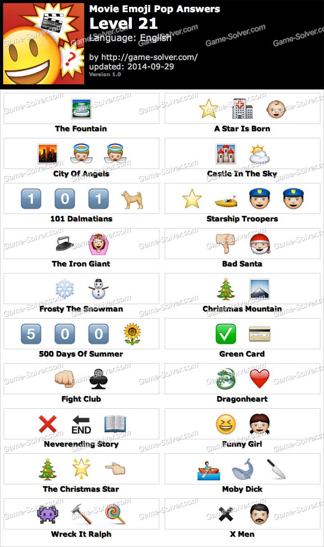Movie Emoji Pop Level 21