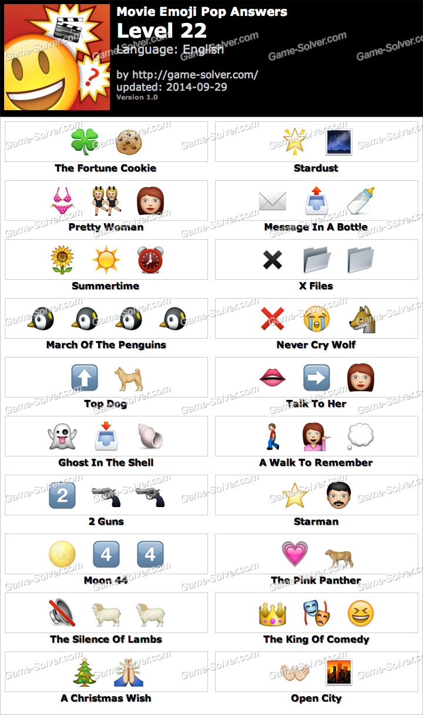 Movie Emoji Pop Level 22