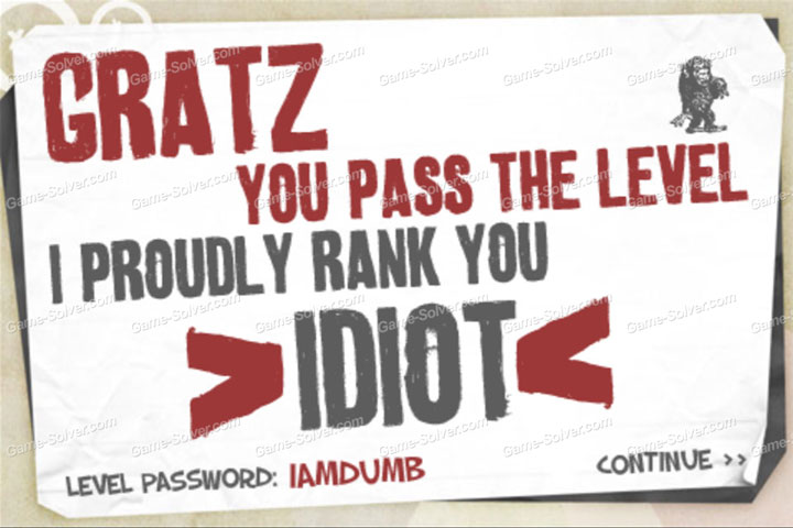 The Idiot Test 3 Password Part 1