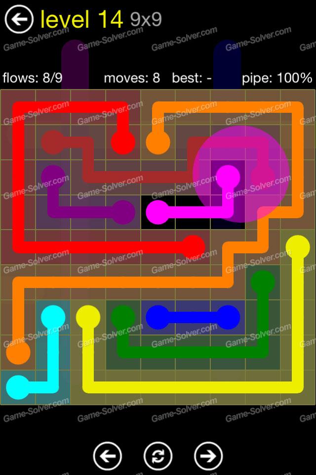 Flow Regular Pack 9x9 Level 14 Game Solver