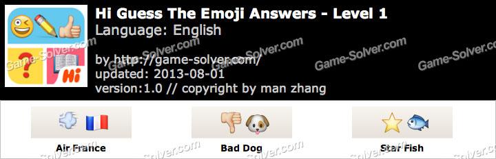 Hi Guess the Emoji Level 1