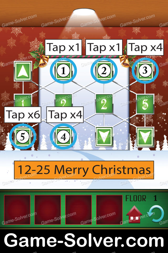 100 Floors Seasons Tower Christmas Walkthrough September 2013 Game Solver