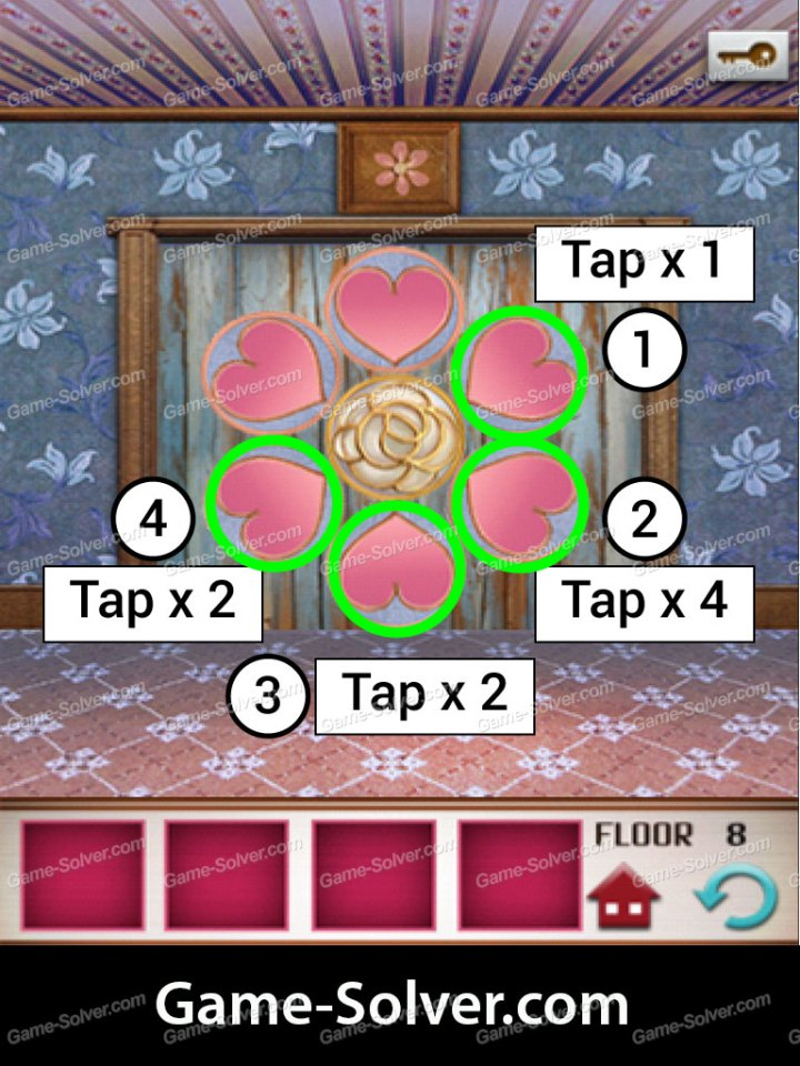100 Floors Seasons Tower Valentines Level 8 Game Solver