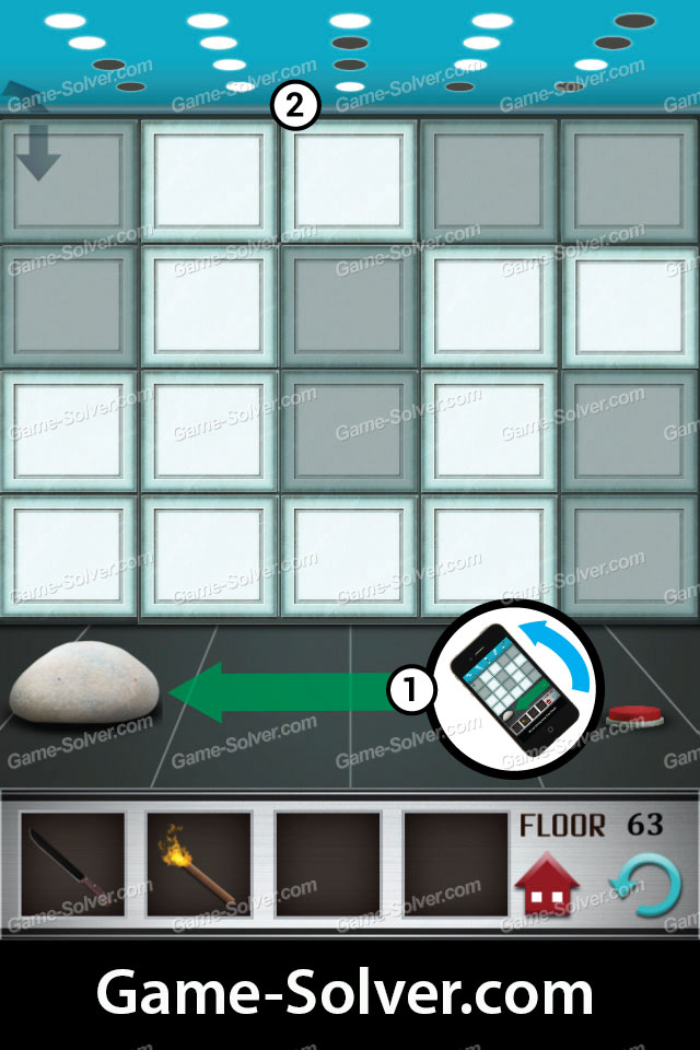 100 Floors Level 63 Game Solver