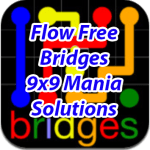 Flow Bridges 9×9 Mania Solutions