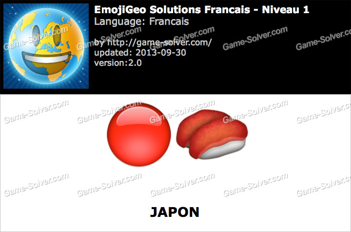 EmojiGeo Francais Niveau 1