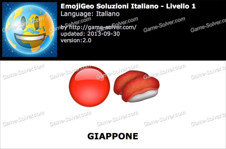 EmojiGeo Italiano Livello 1