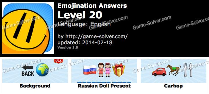 Emojination Level 20