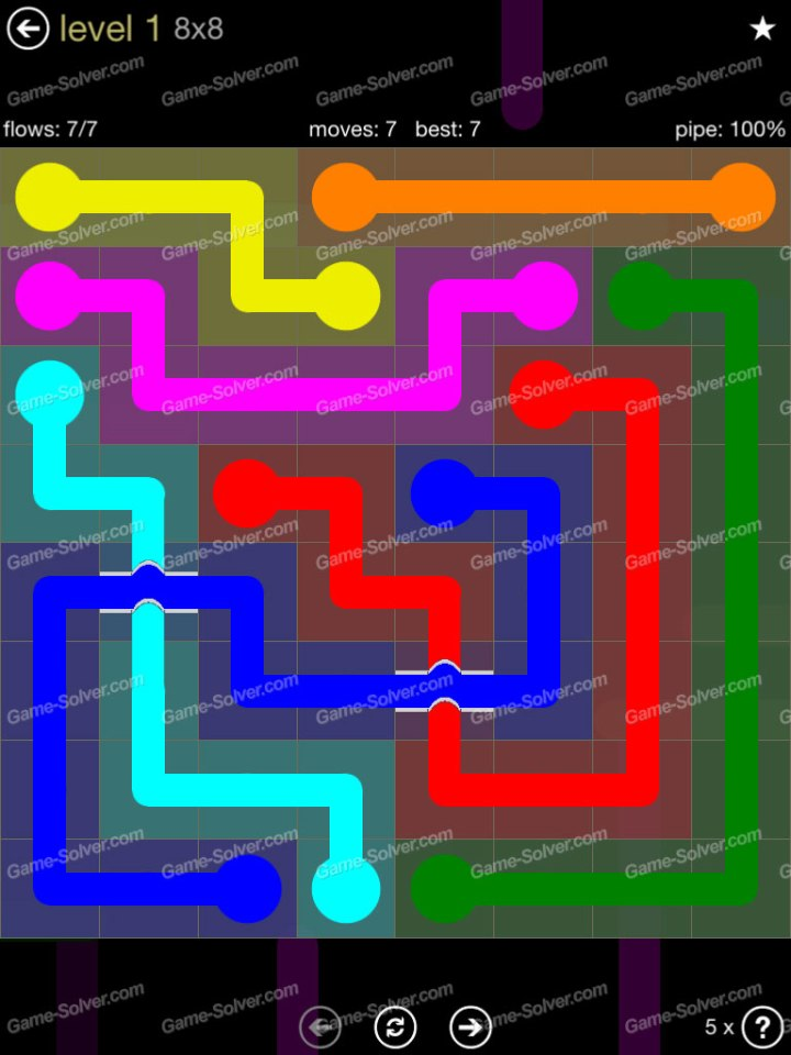 Flow Bridges 8x8 Mania Level 1