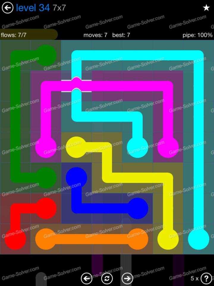 Flow Bridges Challenge Pack 7x7 Level 34