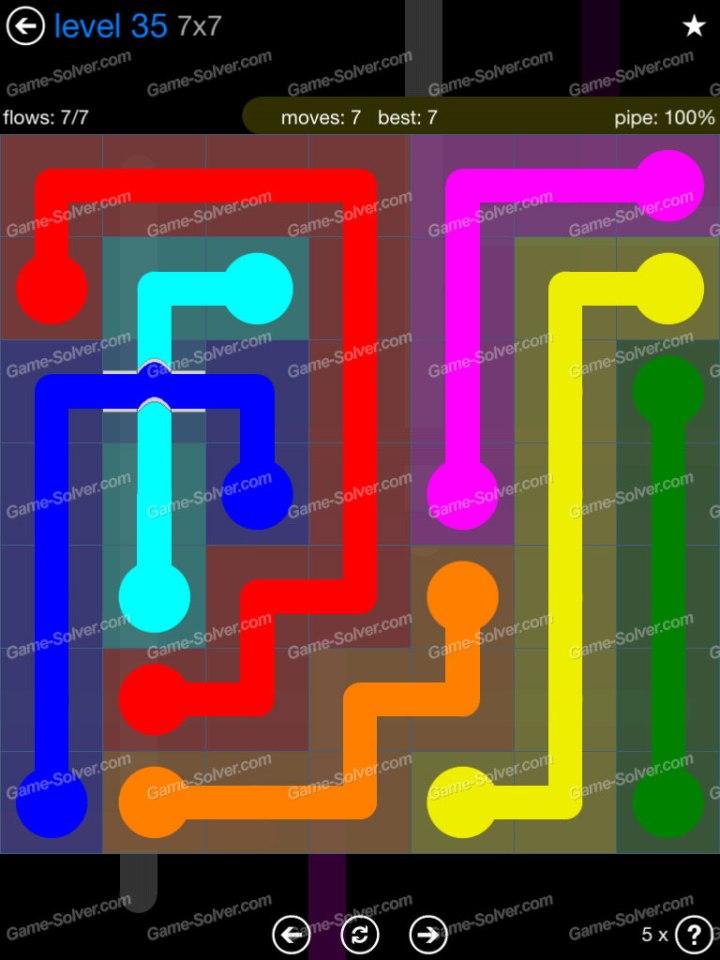 Flow Bridges Challenge Pack 7x7 Level 35