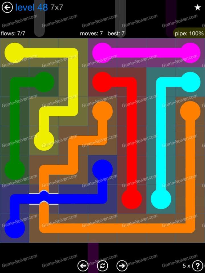 Flow Bridges Challenge Pack 7x7 Level 48