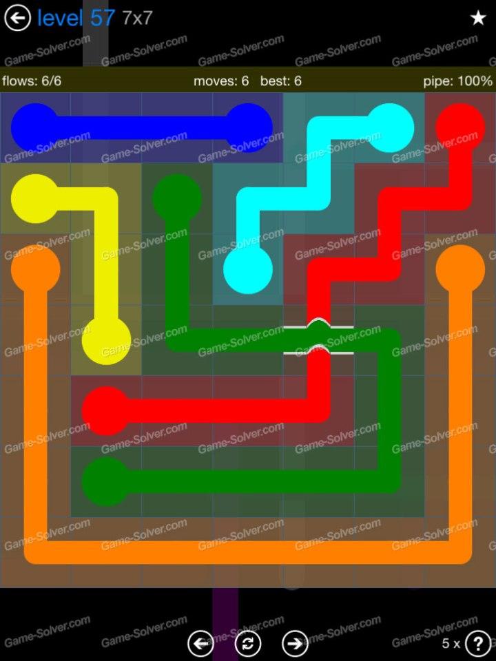 Flow Bridges Challenge Pack 7x7 Level 57