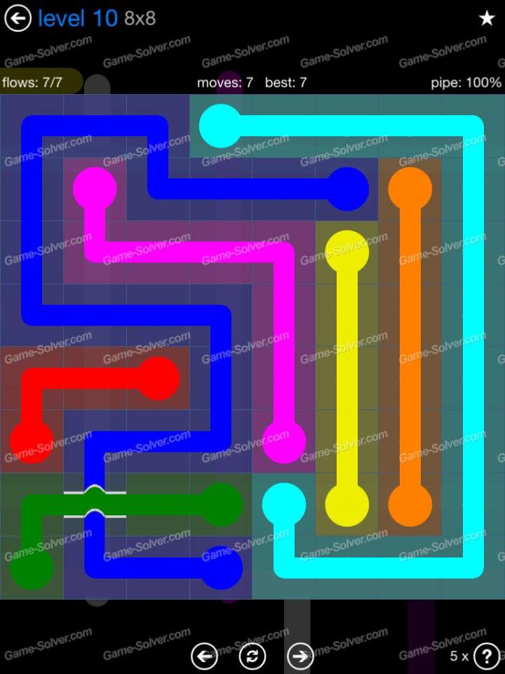 Flow Bridges Challenge Pack 8x8 Level 10