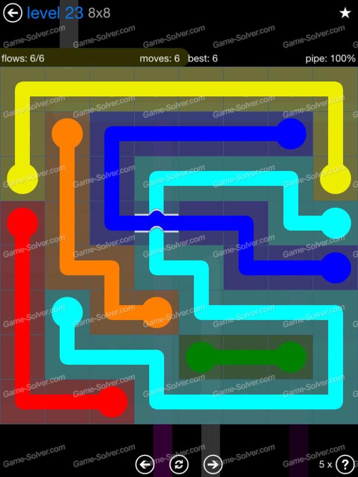Flow Bridges Challenge Pack 8x8 Level 23