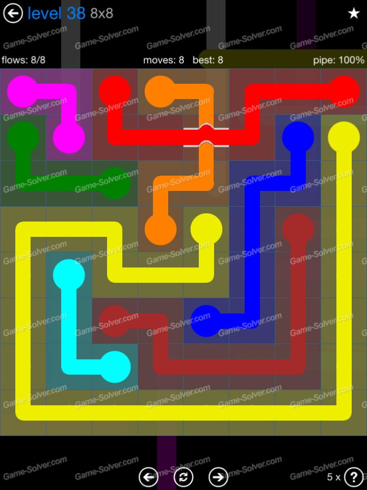 Flow Bridges Challenge Pack 8x8 Level 38