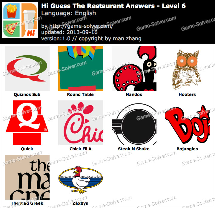 Restaurant Logos And Names Games