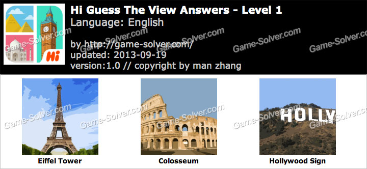 Hi Guess the View Level 1