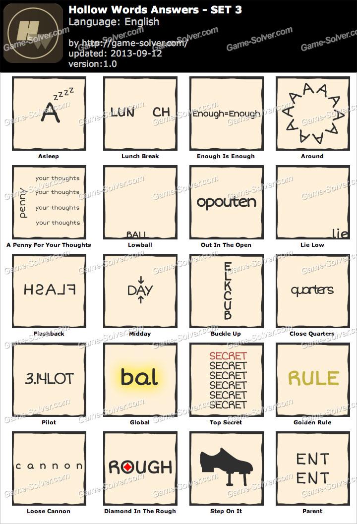 Hollow Words Set 3