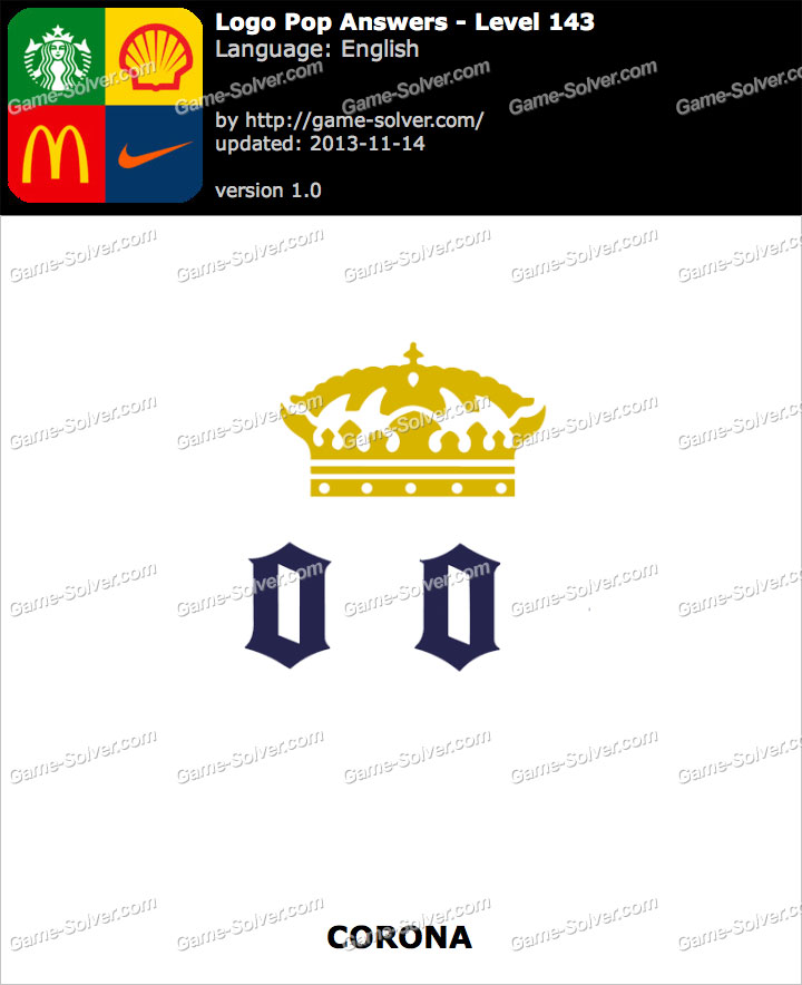 Logo Pop Level 143