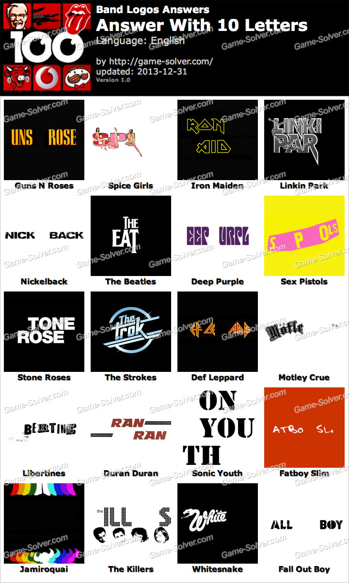 Band Logos 10 Letters