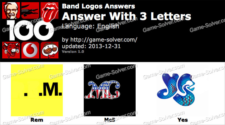 Band Logos 3 Letters