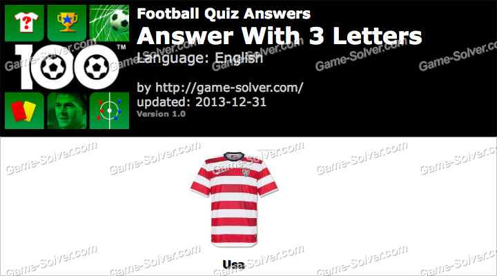 Football Quiz 3 Letters