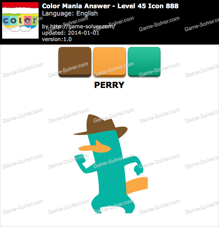 Colormania Level 45 Icon 888 PERRY