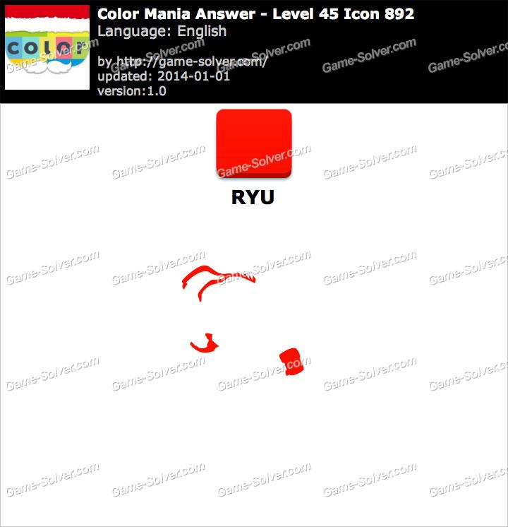 Colormania Level 45 Icon 892 RYU