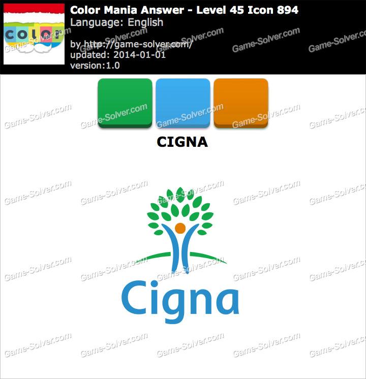 Colormania Level 45 Icon 894 CIGNA