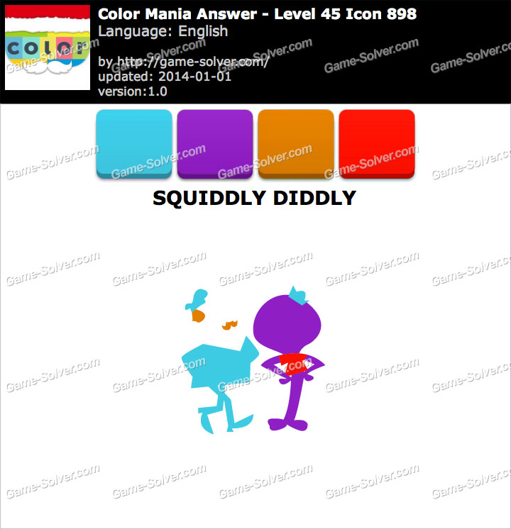 Colormania Level 45 Icon 898 SQUIDDLY DIDDLY