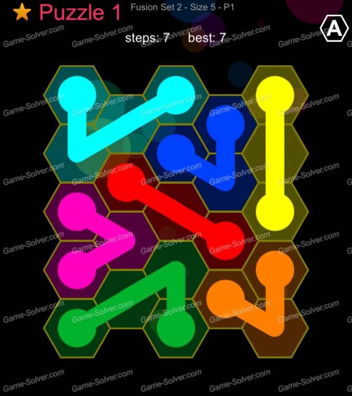 Hexic Flow Fushion Set 2 Size 5 P 1 Puzzle 1