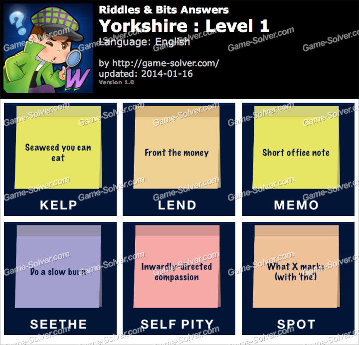 Riddles and Bits Yorkshire Level 1