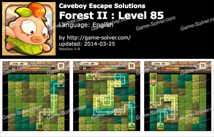 Caveboy Escape Forest II Level 85