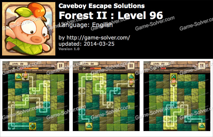Caveboy Escape Forest II Level 96