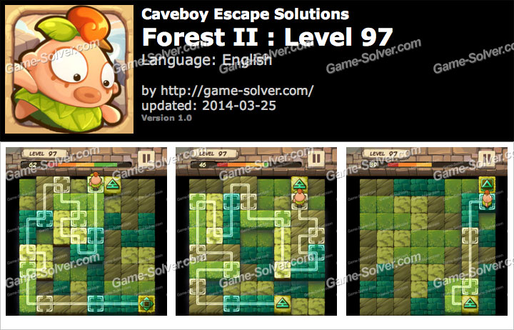 Caveboy Escape Forest II Level 97