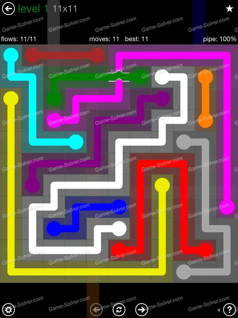 Flow Bridges 11x11 Mania Level 1