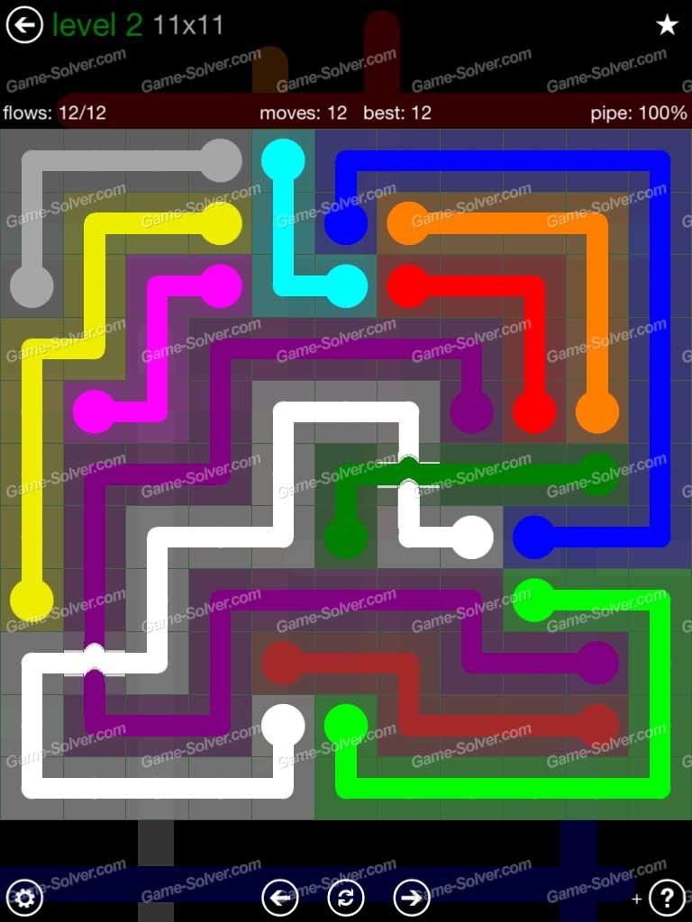 Flow Bridges 11x11 Mania Level 2