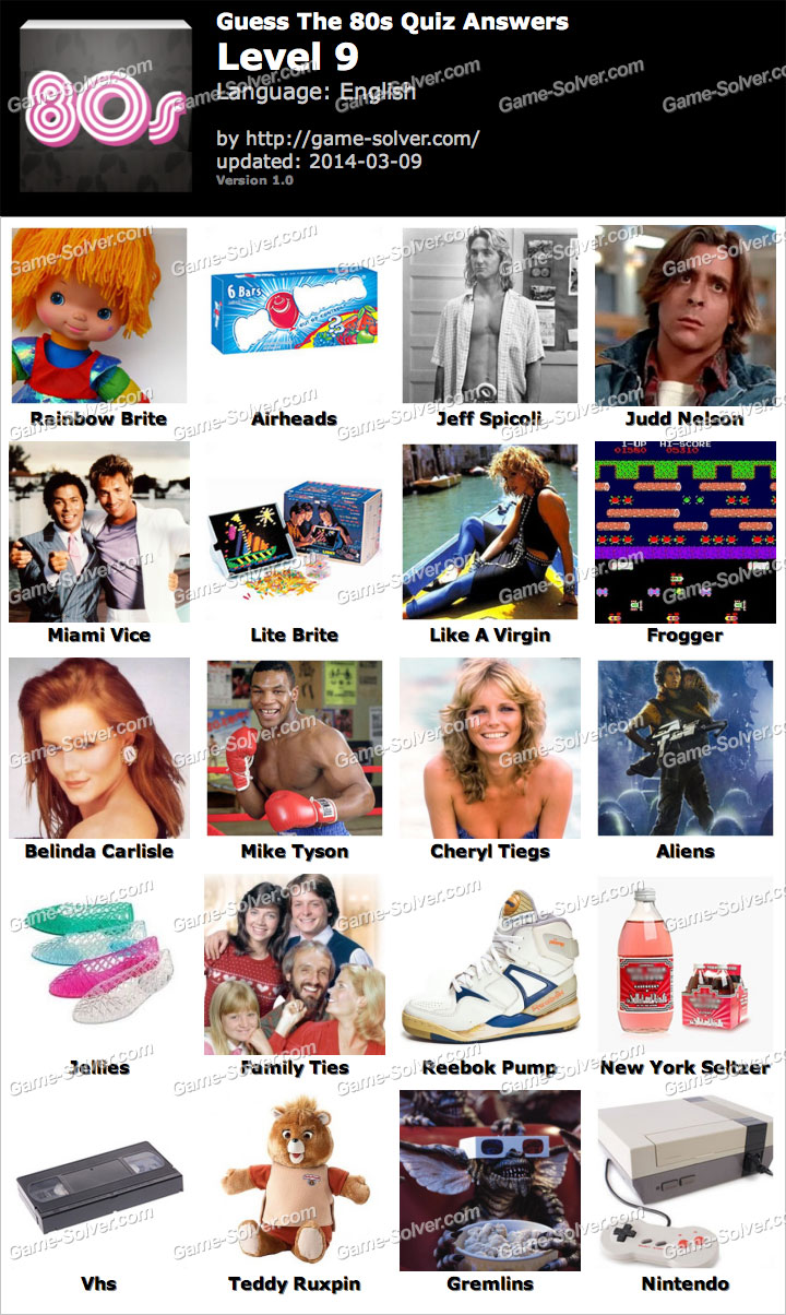Guess The 80s Quiz Level 9