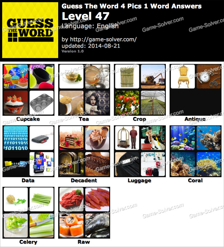 Guess The Word 4 Pics 1 Word Level 47