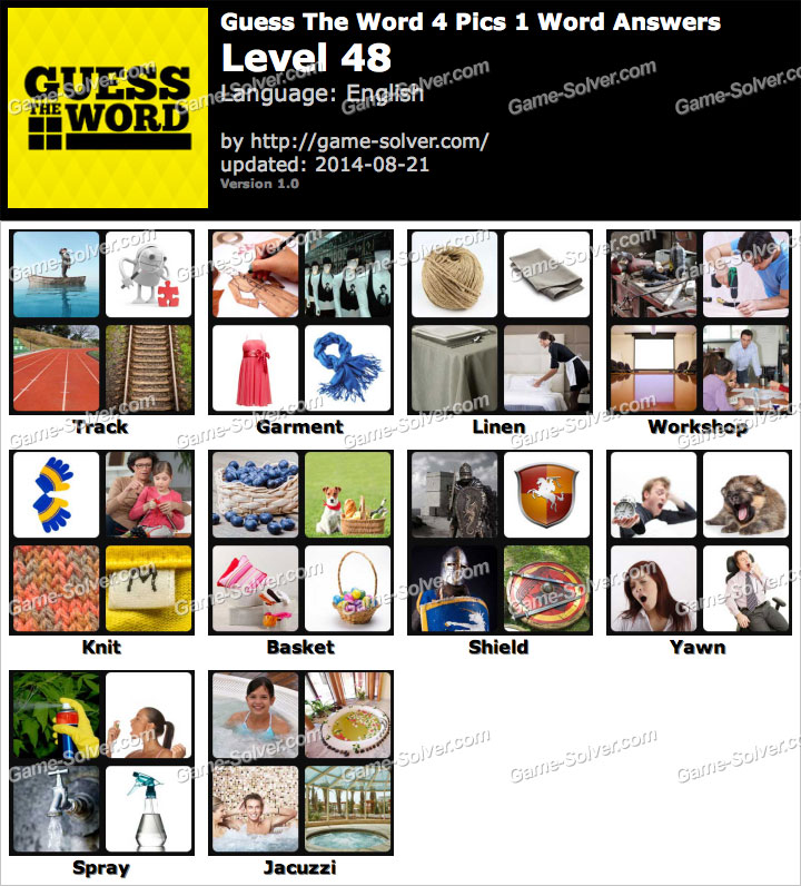 Guess The Word 4 Pics 1 Word Level 48