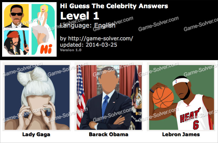 Hi Guess The Celebrity Level 1